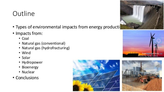 Impact of energy on the manufacturing