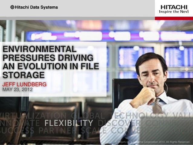 ENVIRONMENTAL PRESSURES DRIVING AN EVOLUTION IN FILE STORAGE JEFF LUNDBERG MAY 23, 2012