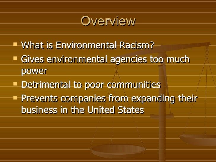 define environmental racism Weave bloggers global palestine: contemporary collisions of actions being taken by global citizens in the name of environmentalism by focusing on the underside of the environmental movement through critical analysis of issues like greenwashing.
