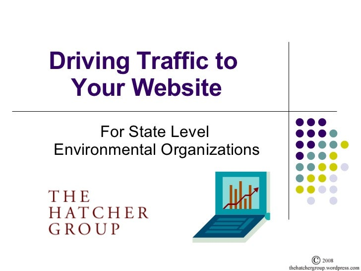 Driving Traffic to  Your Website For State Level  Environmental Organizations