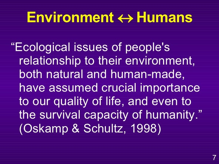 The role of the human and nature relationship to a wonderful life
