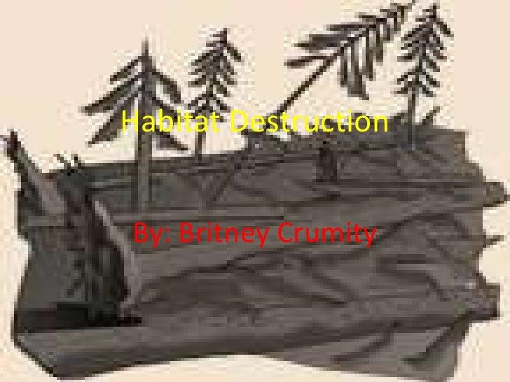 Habitat DestructionBy: Britney Crumity