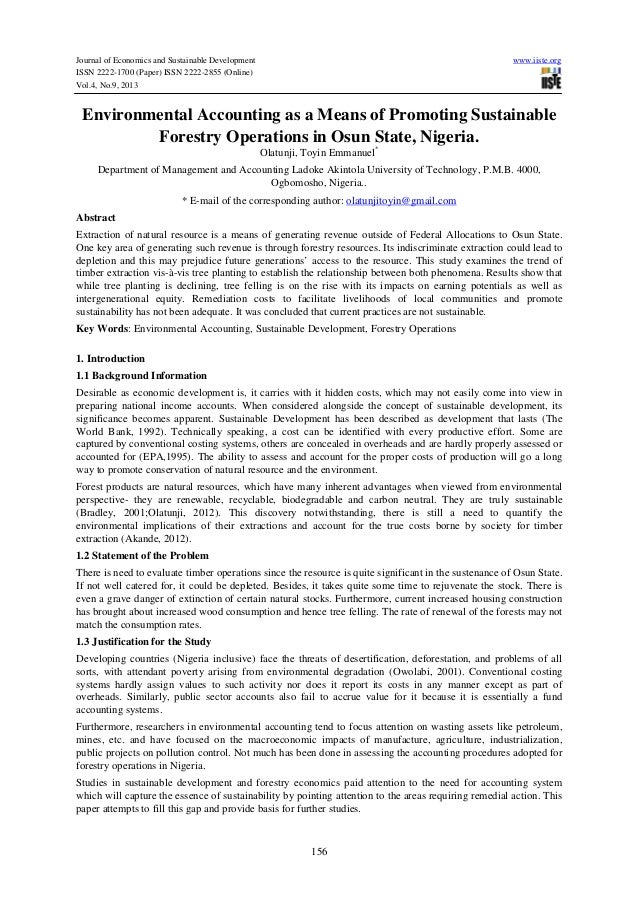 Journal of Economics and Sustainable Development www.iiste.org ISSN 2222-1700 (Paper) ISSN 2222-2855 (Online) Vol.4, No.9,...
