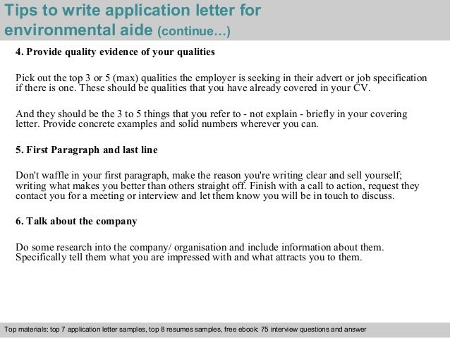 Perfect ... 4. Tips To Write Application Letter For Environmental Aide ...