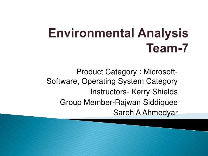 Product Category : Microsoft-Software, Operating System Category            Instructors- Kerry Shields    Group Member-Raj...