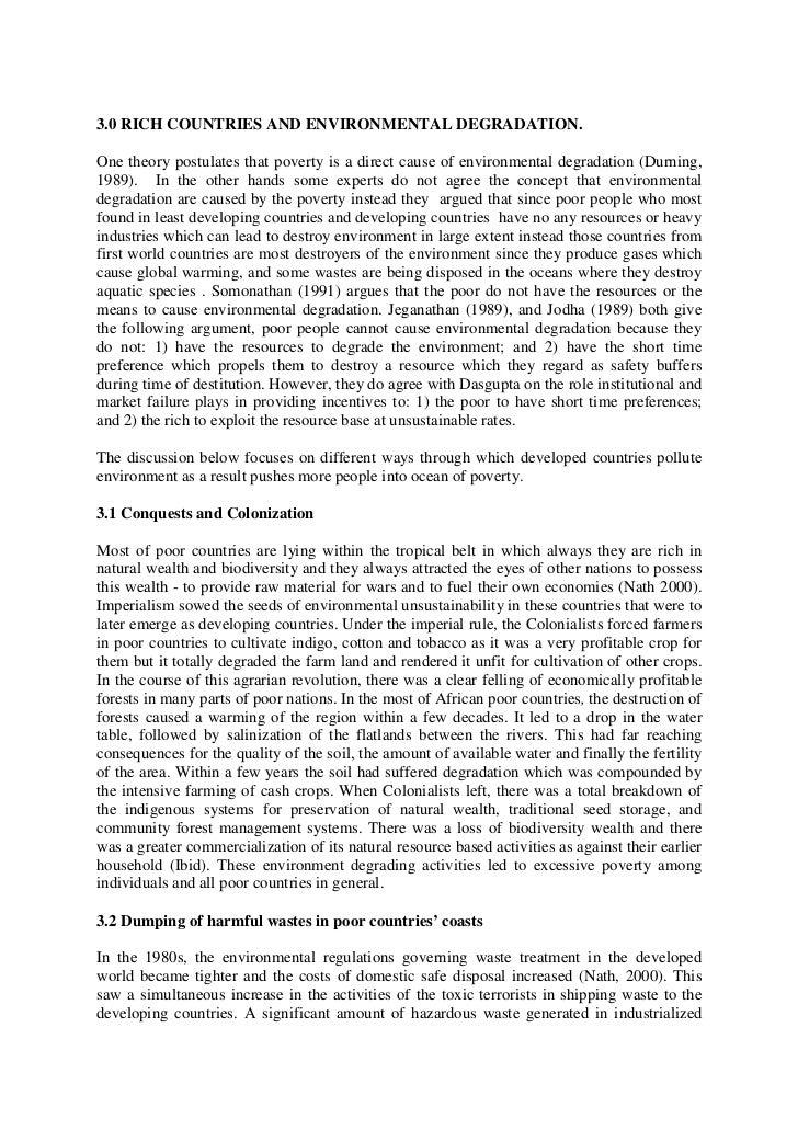 Environmental degradation in india essay