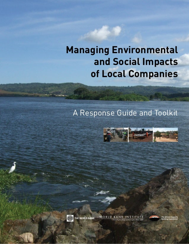 Managing Environmental     and Social Impacts    of Local Companies A Response Guide and Toolkit