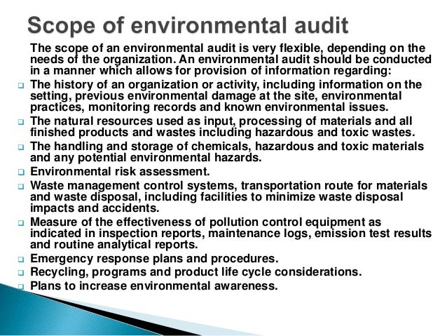 what is an environmental audit