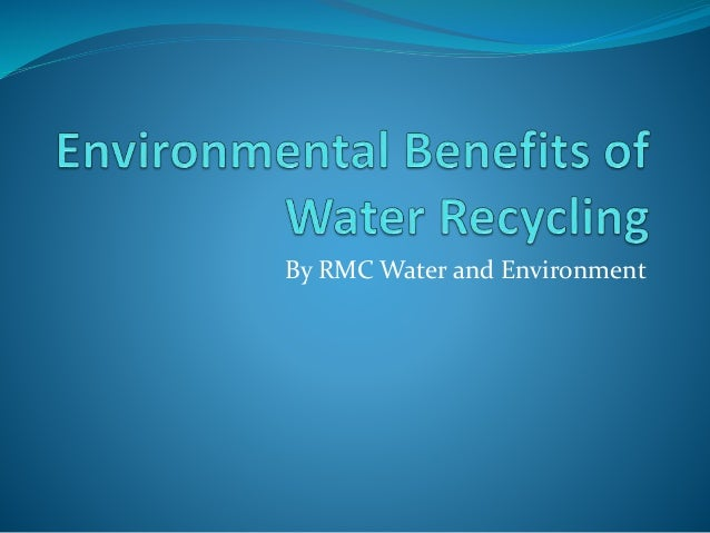 By RMC Water and Environment