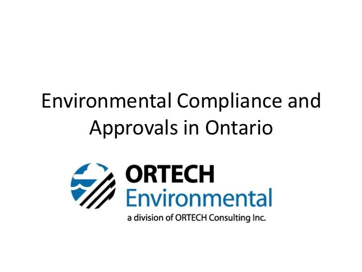 Environmental Compliance and     Approvals in Ontario