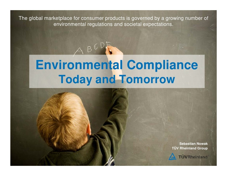 The global marketplace for consumer products is governed by a growing number of               environmental regulations an...