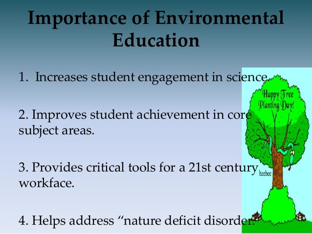 what are the importance of environmental education