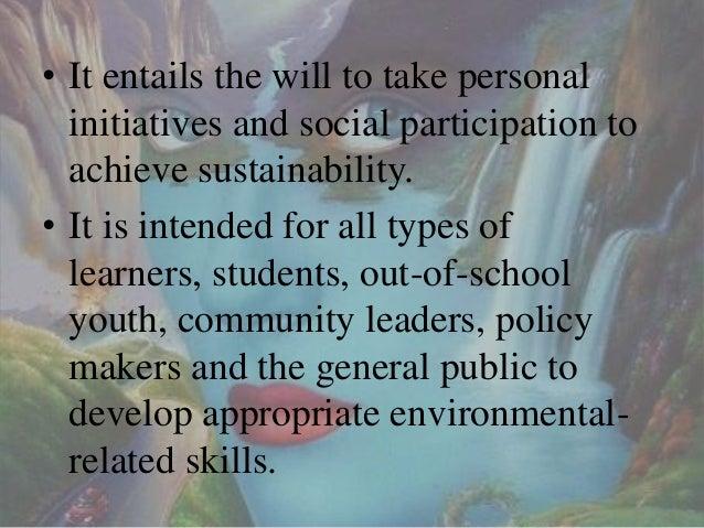 Environmental education Slide 3