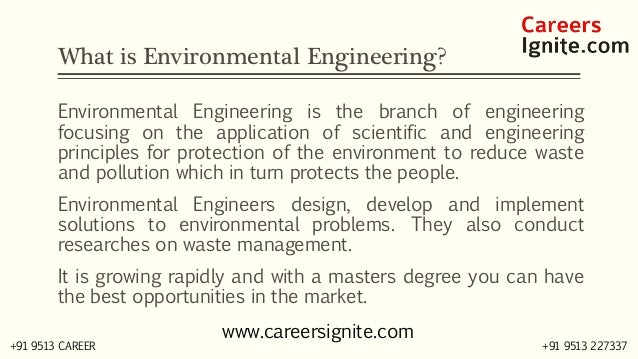 Environmental Engineering Courses, Colleges, Eligibility Slide 2