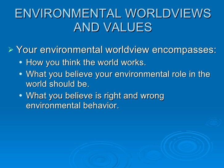 Environmental ethics Slide 2