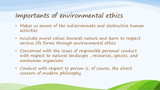 environmental ethics as a solution to the environmental crisis of today