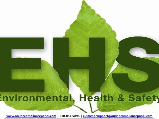 ... Essay On Environmental Health And Safety In This Module, We Have A  Scenario In Which ...