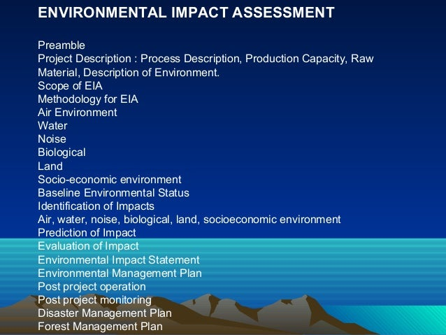 why environmental impact assessment is important