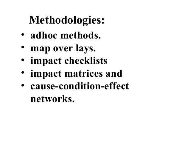 Environmental impact assessment methodology by Dr. I.M