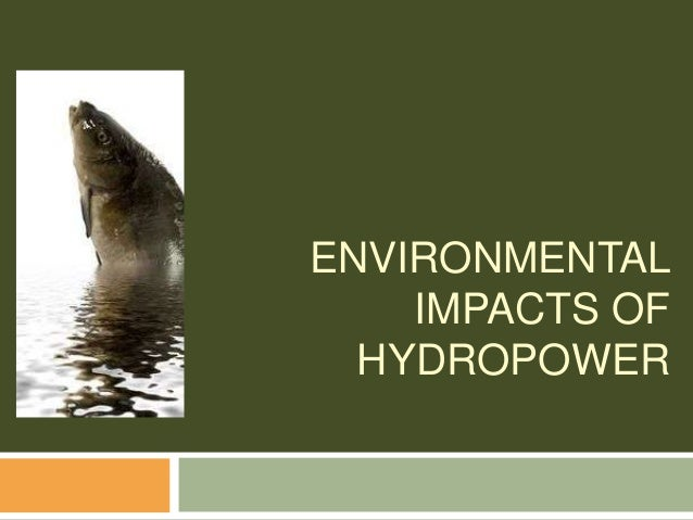ENVIRONMENTAL IMPACTS OF HYDROPOWER