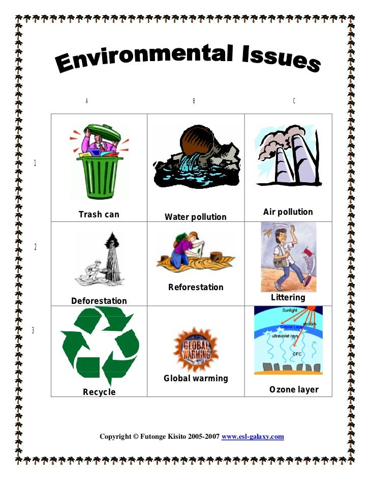 Examples of environmental issues b--b top 2019