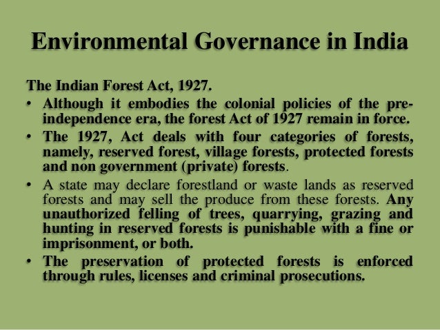 list of environmental laws in india pdf