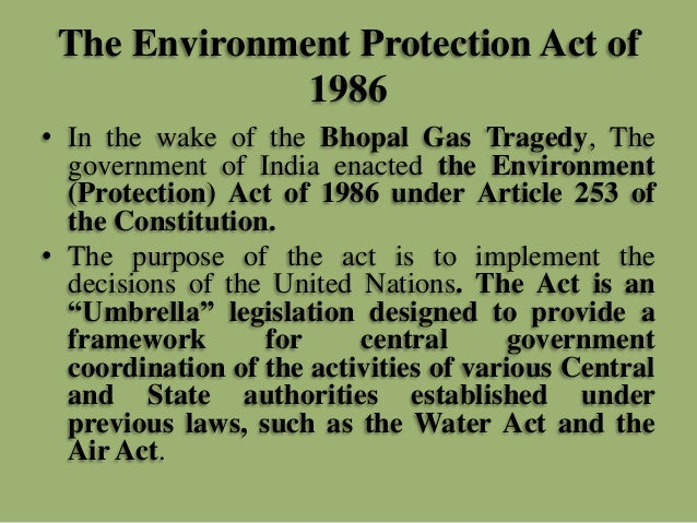 Environment Protection Act 1986 Pdf