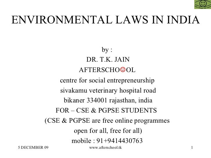 Environment law in india with tort