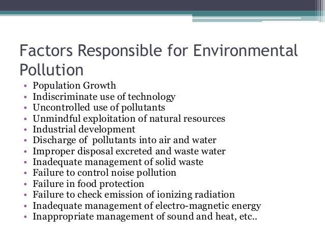 factors of environmental pollution