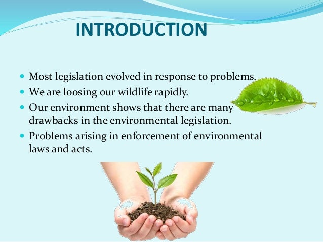 environmental laws Overview environmental law refers to a variety of protections which share the goal of protecting the environment federal law the national environmental policy act (nepa) was passed in 1970 along with the environmental quality improvement act and the national environmental education act.