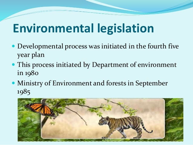 ... Environment and forests in September 1985; 4.