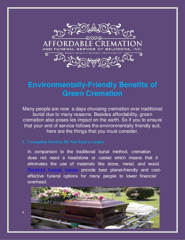 Environmentally friendly benefits of green cremation