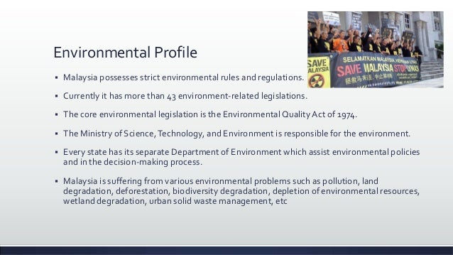 Environmental Management In Malaysia