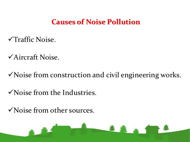 The gallery for --> Noise Pollution Traffic