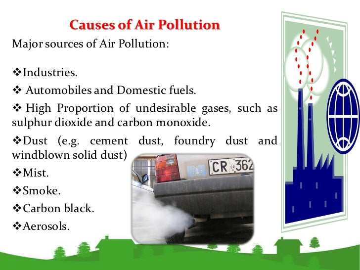 issues of indoor air pollution environmental sciences essay Air pollution is an look used to depict the air province when the concentrations of chemicals, particulate affair, or biological agents in the air exceeds the recommended degrees and became a beginning of wellness jeopardy or do uncomfortableness to worlds and other beings, or cause amendss to the populating natural environment.