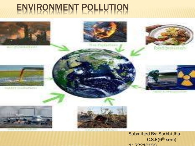 ENVIRONMENT POLLUTION Submitted By: Surbhi Jha C.S.E(6th sem)