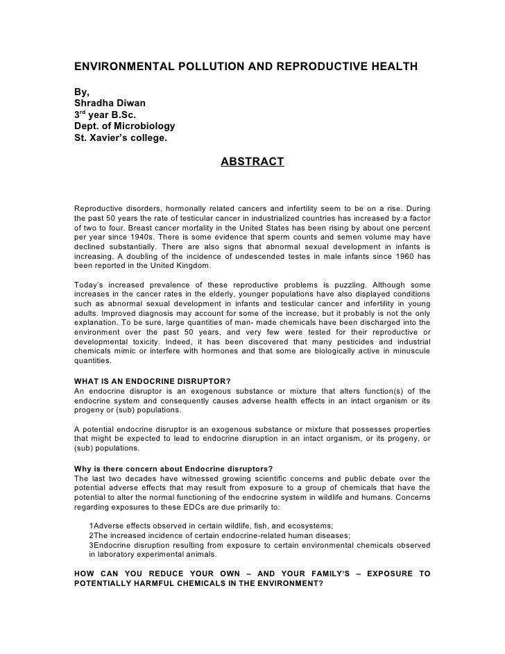 Environmental health essay