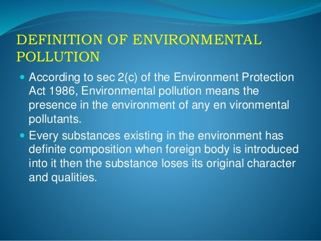 what is the meaning of environment