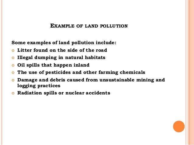 report on land pollution