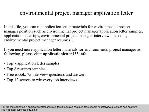 environmental project manager resumes