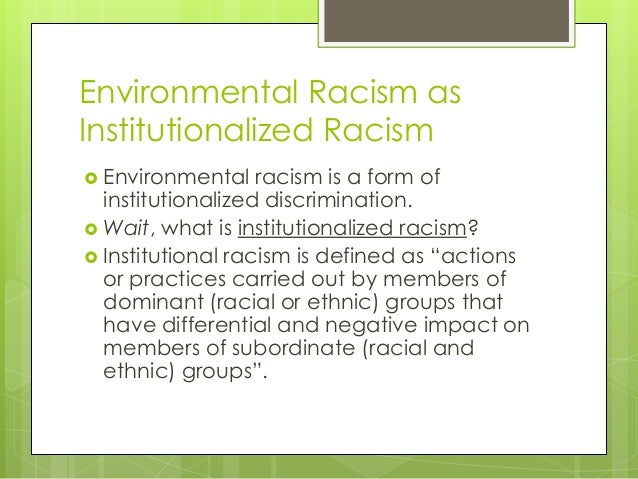 institutionalized racism in education literature review Take into account structural/institutional racism as an explanatory factor for comprehensive review of higher education literature confirms that much has.