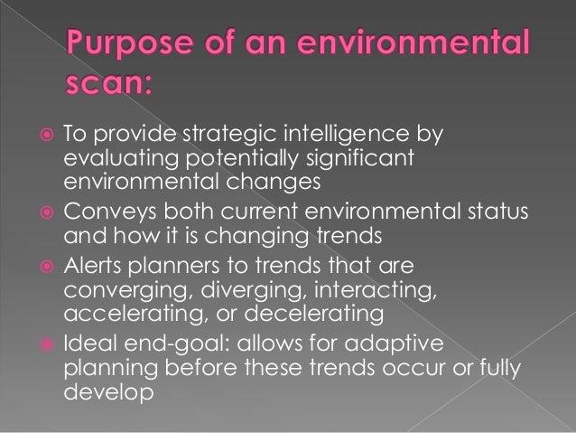 external and internal environmental analysis strategic Understanding the external environment the strategic process includes the external and the internal environment an analysis of the current strategy can.
