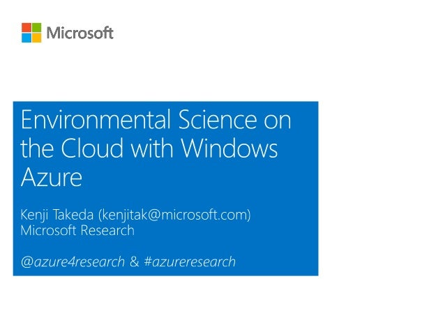 Microsoft Research: Computational Ecology and Environmental Science Group http://research.microsoft.com/en-us/groups/ecolo...