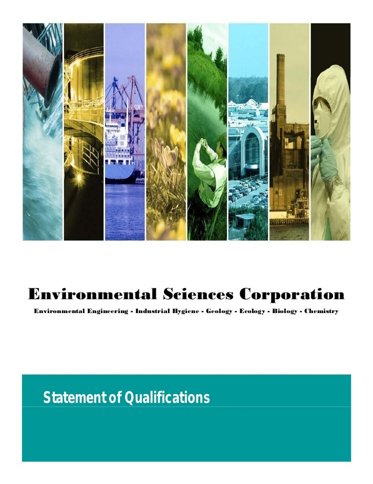 Environmental Sciences CorporationEnvironmental Engineering - Industrial Hygiene - Geology - Ecology - Biology - Chemistry...