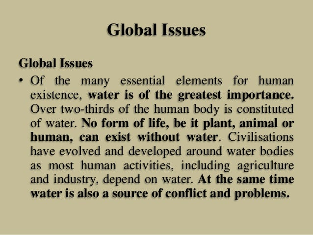 Water issues in developing countries