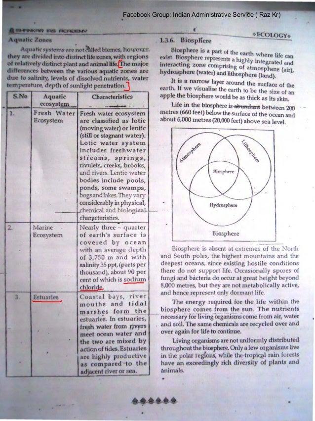 Ias environment academy pdf by shankar