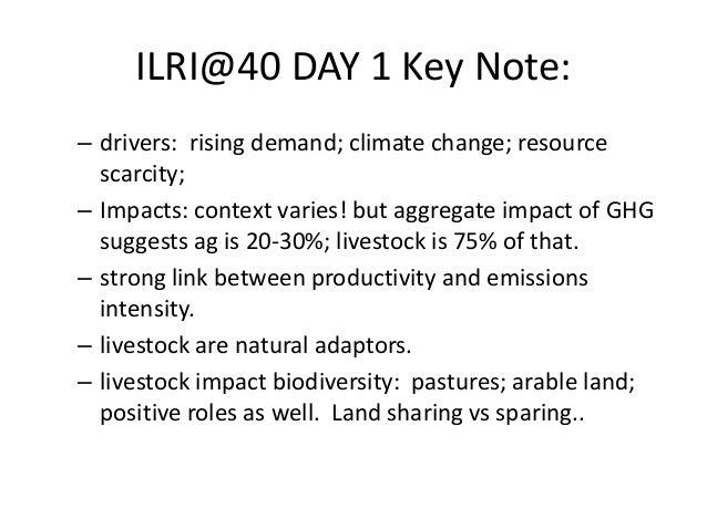 Livestock and environment at ILRI: Past, present and future Slide 3