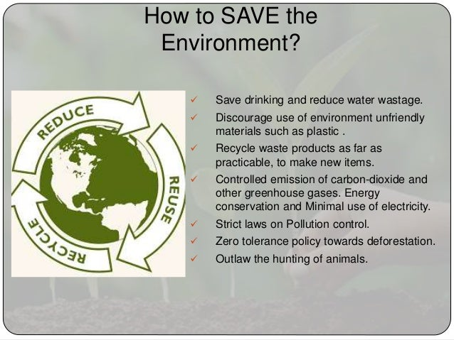 environment essay 7 how to save the environment