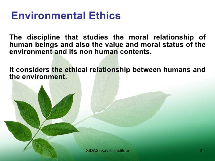 environment ethics environmental