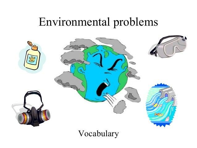 Environmental problems Vocabulary